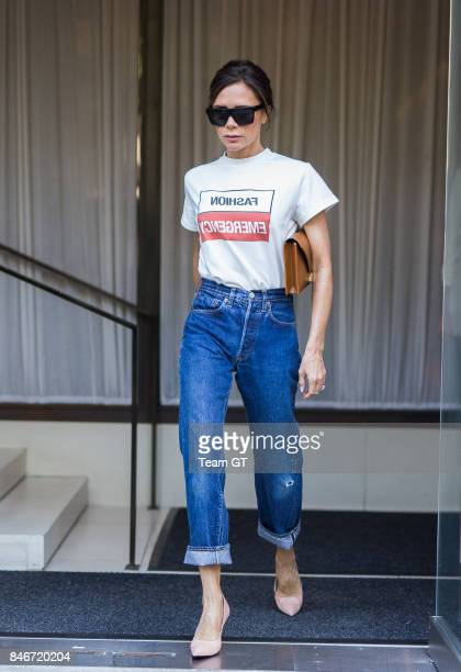 Victoria Beckham is seen on September 13 2017 in New York City