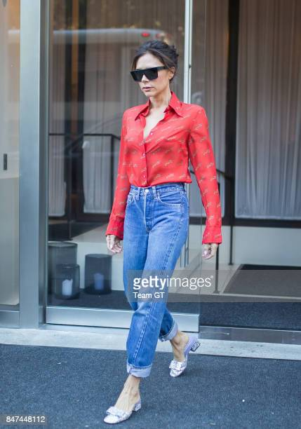 Victoria Beckham is seen on September 15 2017 in New York City