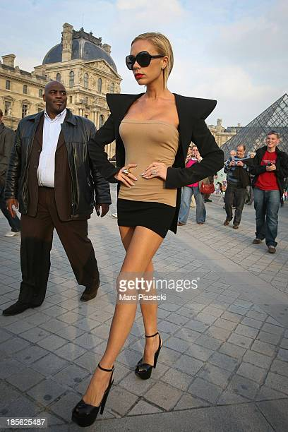 Victoria Beckham is seen on the 'Place de la Concorde' on October 08 2007 in Paris France