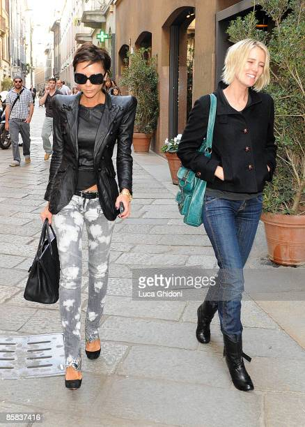 b67eff2b5379 Victoria Beckham is seen shopping on April 7 2009 in Milan Italy