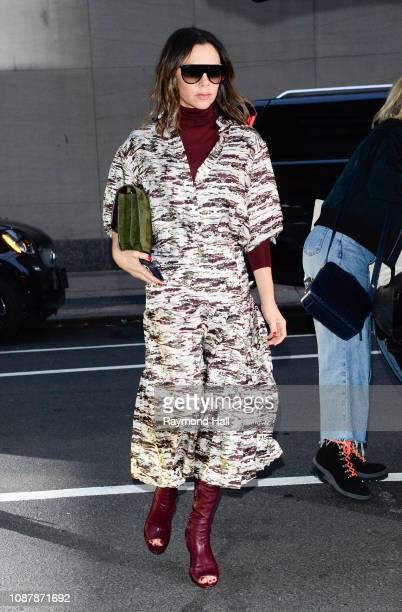 Victoria Beckham is seen walking in midtown on January 23, 2019 in New York City.
