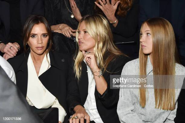 Victoria Beckham Kate Moss and her daughter Lila Grace Moss Hack attend the Dior Homme Menswear Fall/Winter 20202021 show as part of Paris Fashion...