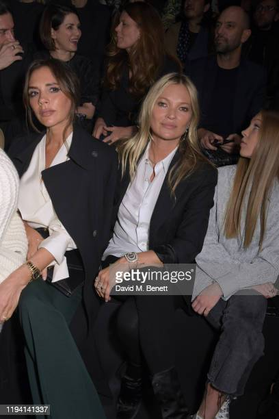 Victoria Beckham, Kate Moss and Lila Moss attend the Dior Homme Menswear Fall/Winter 2020-2021 show as part of Paris Fashion Week on January 17, 2020...