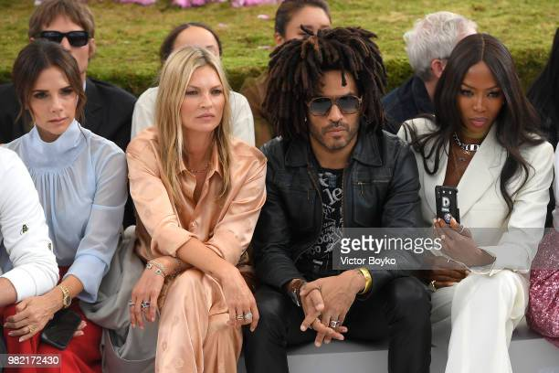 Victoria Beckham Kate Moss and Naomi Campbell attend the Dior Homme Menswear Spring/Summer 2019 show as part of Paris Fashion Week on June 23 2018 in...