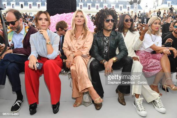 Victoria Beckham Kate Moss Lenny Kravitz and Naomi Campbell attend the Dior Homme Menswear Spring/Summer 2019 show as part of Paris Fashion Week Week...