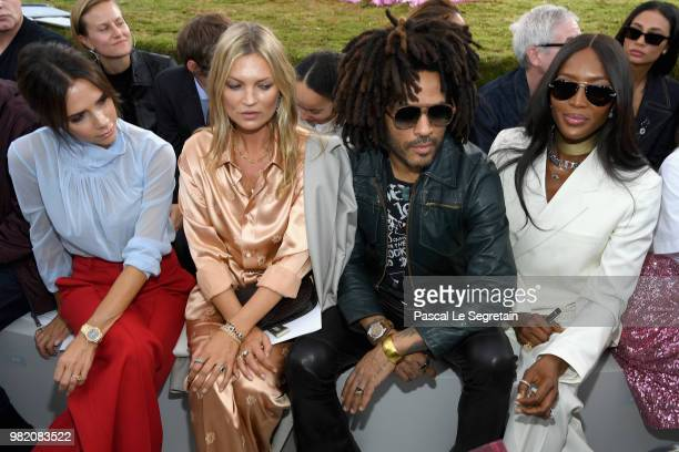 Victoria Beckham Kate Moss Lenny Kravitz and Naomi Campbell attend the Dior Homme Menswear Spring/Summer 2019 show as part of Paris Fashion Week on...