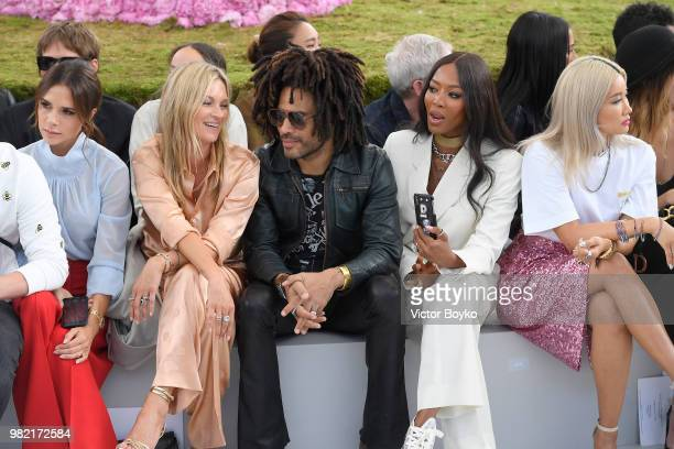 Victoria Beckham Kate Moss Lenny Kravitz Naomi Campbell and Yoon Ahn attend the Dior Homme Menswear Spring/Summer 2019 show as part of Paris Fashion...