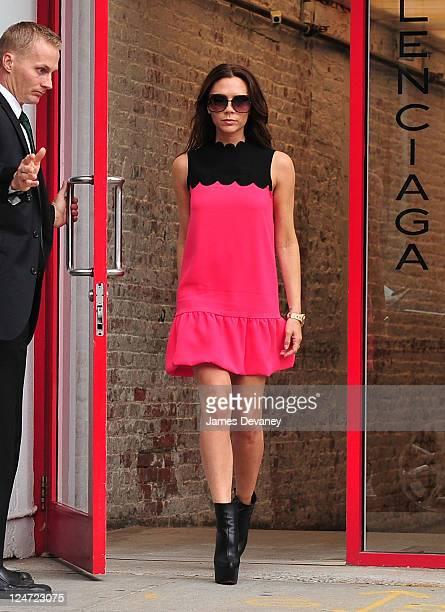 Victoria Beckham leaves Balenciaga on September 11 2011 in New York City