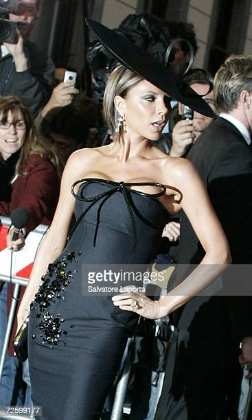 Victoria Beckham leaves the Hassler Hotel prior to the wedding of actors Katie Holmes and Tom Cruise at Castello Odescalchi on November 18 2006 in...