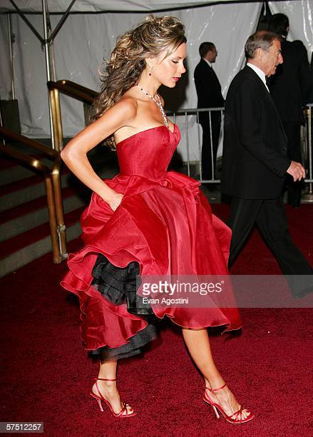 Victoria Beckham leaves the Metropolitan Museum of Art Costume Institute Benefit Gala AngloMania Tradition and Transgression in British Fashion at...