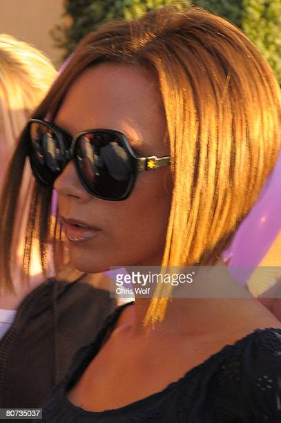 Victoria Beckham leaves the Pink Taco restaurant on April 17 2008 in Century City California