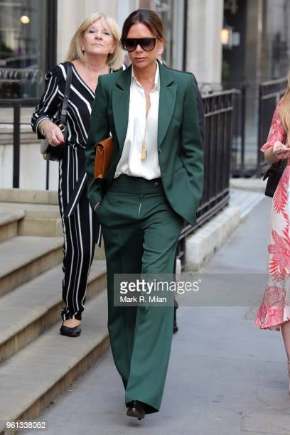 Victoria Beckham leaving her London store on May 22 2018 in London England