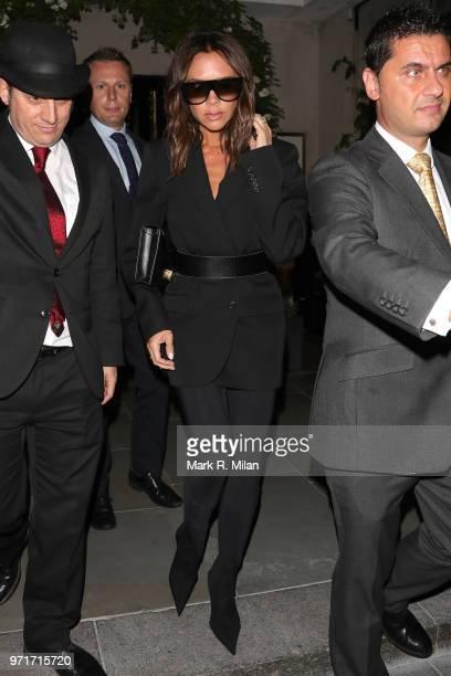 Victoria Beckham leaving Scott's restaurant on June 11 2018 in London England