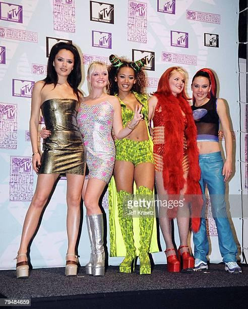 Victoria Beckham, Mel C, Emma Bunton, Geri Halliwell and Mel B from The Spice Girls