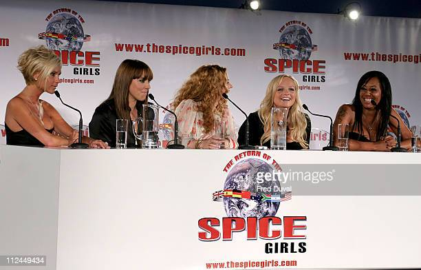 Victoria Beckham Mel C Geri Halliwell Emma Bunton and Mel B from The Spice Girls
