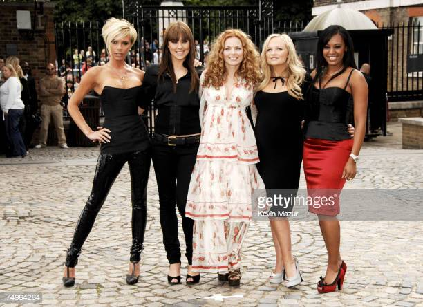 Victoria Beckham, Mel C, Geri Halliwell, Emma Bunton and Mel B from The Spice Girls
