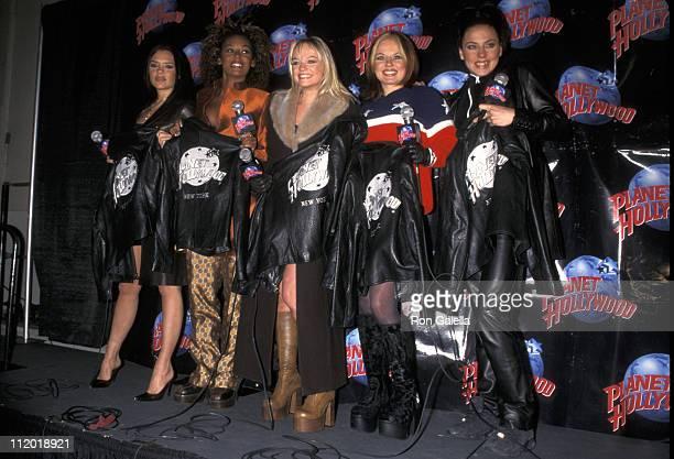 Victoria Beckham Melanie Brown Emma Bunton Geri Halliwell and Melanie Chisholm of Spice Girls