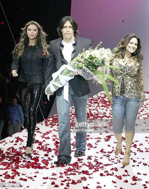 Victoria Beckham, Michael Ball and Andrea Bernholtz