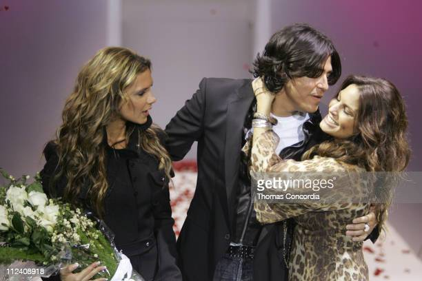 Victoria Beckham, Michael Ball and Andrea Bernholtz Rock & Republic Spring 2006