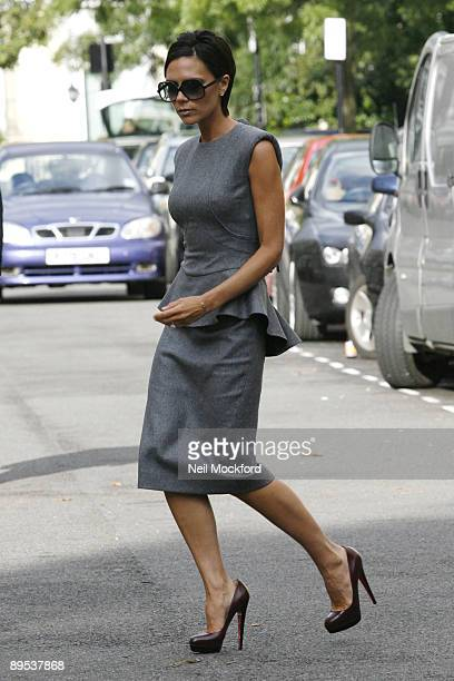 Victoria Beckham on set of advert for her clothing range on July 23, 2009 in London, England.