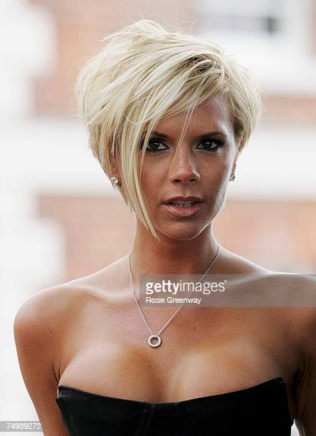 Victoria Beckham poses at a photocall at the Royal Observatory Greenwich ahead of a Spice Girls news conference later today on June 28 2007 in London...