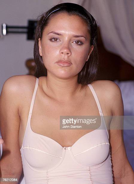 Victoria Beckham poses for a photo shoot at the Four Seasons Hotel in KutaBali April 29 1997