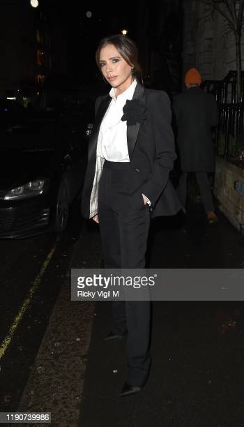 Victoria Beckham seen at the Christmas party at her London store on Dover Street on November 28 2019 in London England