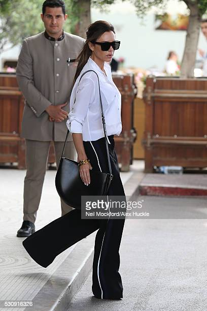 Victoria Beckham seen leaving Hotel Martinez on May 12 2016 in Cannes France