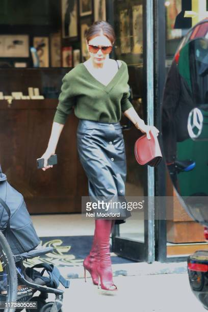 Victoria Beckham seen leaving Love Hate Social Club tattoo and body piercing studio on Portobello Road on September 09 2019 in London England