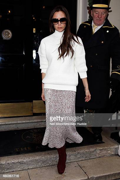 Victoria Beckham seen leaving The Arts Club Dover Street on December 12 2014 in London England Photo by Neil Mockford/Alex Huckle/GC Images