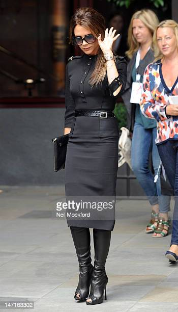 Victoria Beckham seen leaving the Viva Forever Press Launch on June 26 2012 in London England