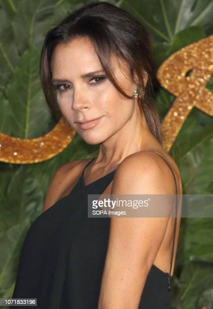 Victoria Beckham seen on the red carpet during the Fashion Awards 2018 at the Royal Albert Hall, Kensington in London.