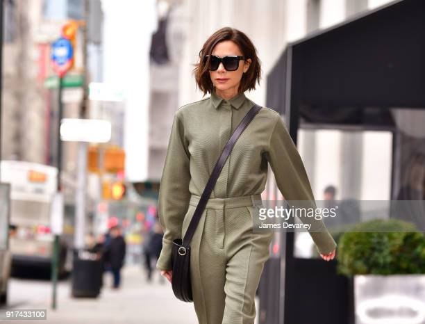 Victoria Beckham seen on the streets of Manhattan on February 12 2018 in New York City