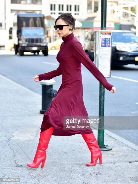 Victoria Beckham seen on the streets of Manhattan on October 13 2017 in New York City
