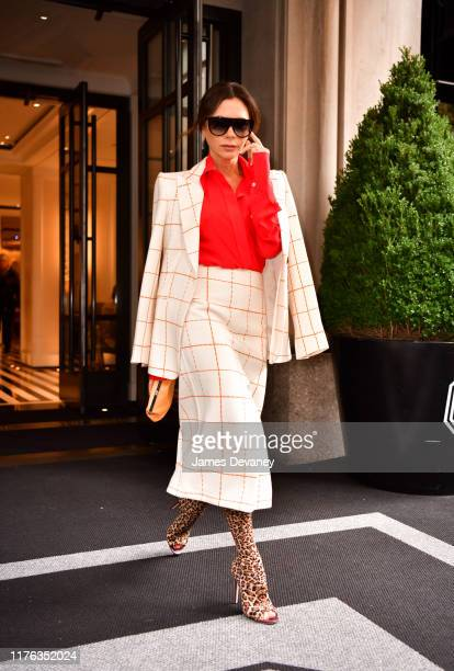 Victoria Beckham seen on the streets of Manhattan on October 17 2019 in New York City