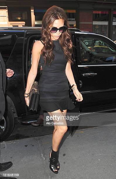 Victoria Beckham sighting at Streets of Manhattan on September 9 2012 in New York City