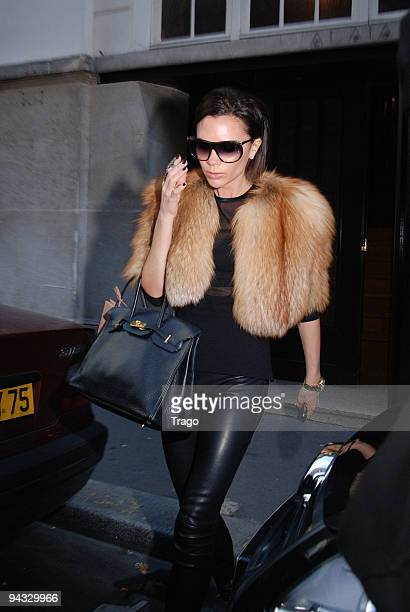 Victoria Beckham sighting while shopping at Azzedine Alaïa boutique on December 12, 2009 in Paris, France.