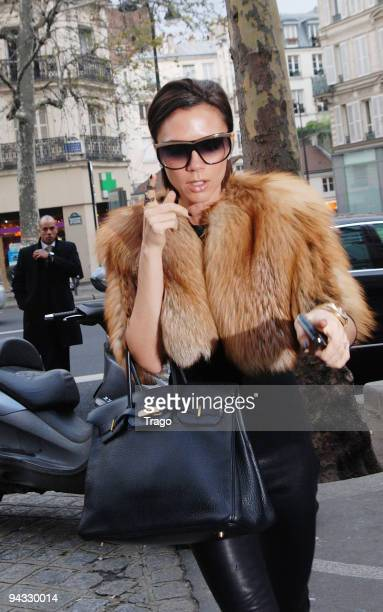 Victoria Beckham sighting while shopping at MERCI concept store on December 12 2009 in Paris France