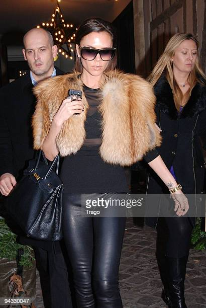 Victoria Beckham sighting while shopping at MERCI concept store on December 12, 2009 in Paris, France.