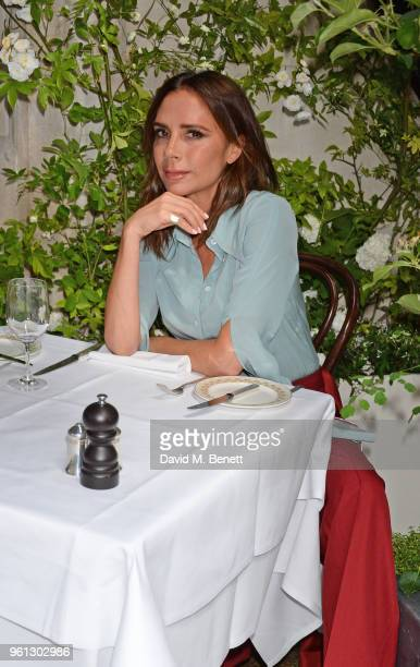 Victoria Beckham unveils the Scott's Mayfair 2018 summer terrace which she designed in collaboration with florist Flora Starkey at Scott's Mayfair on...