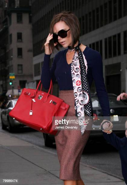 Victoria Beckham visits FAO Schwarz in New York city on February 9 2008