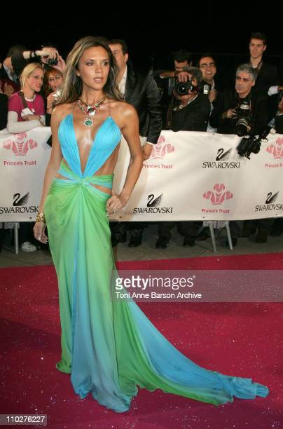Victoria Beckham wearing Roberto Cavalli during Swarovski Fashion Rocks for the Prince's Trust - Red Carpet Arrivals at Forum Grimaldi in Monte...
