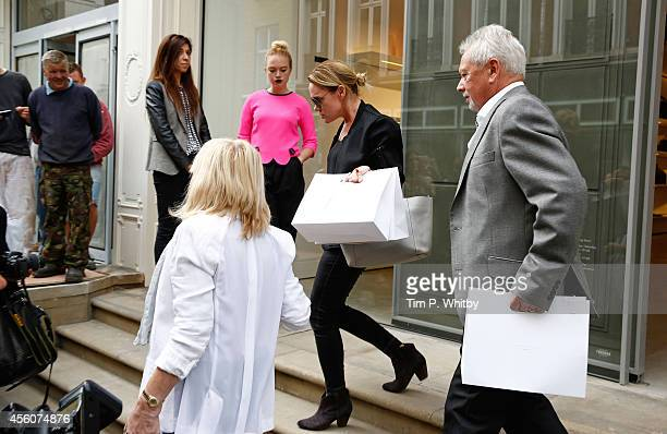 Victoria Beckham's family Jackie Adams Louise Adams and Anthony Adams leave after visiting the new Victoria Beckham Dover Street flagship store on...