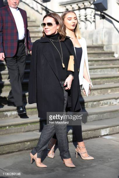 Victoria Beckham's sister Louise Adams attends the Victoria Beckham Show at Tate Britain during LFW February 2019 on February 17, 2019 in London,...