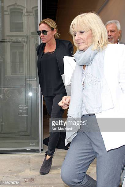 Victoria Beckhm's sister Louise Adams and mother Jackie Adams leave the Victoria Beckham Dover Street flagship store launch on September 25 2014 in...