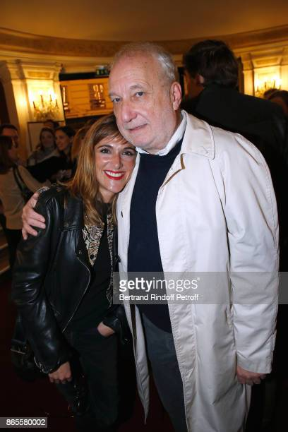 Victoria Bedos and actor of the piece Francois Berleand attend the 'Ramses II' Theater Play at Theatre des Bouffes Parisiens on October 23 2017 in...