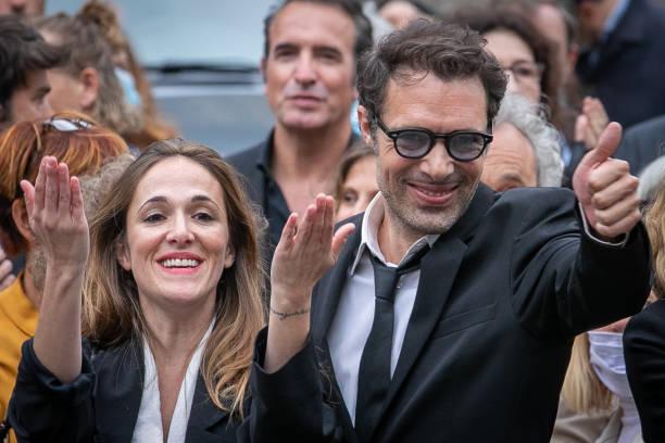 FRA: Guy Bedos' Funerals At Eglise De Saint-Germain-des-Pres In Paris