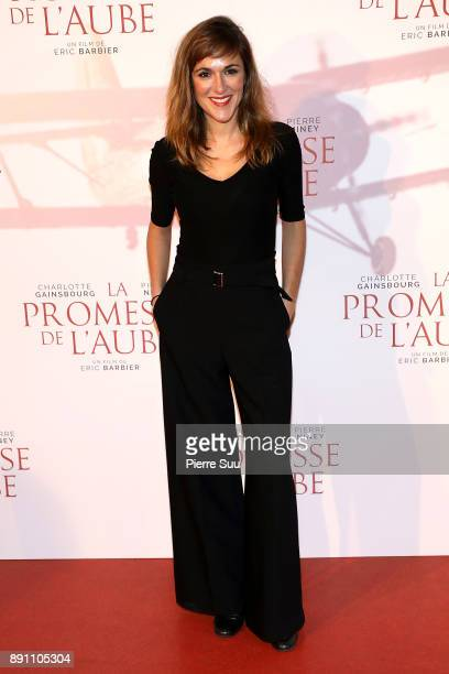 Victoria Bedos attends the premiere of 'La Promesse De L'Aube' at Cinema Gaumont Capucine on December 12 2017 in Paris France