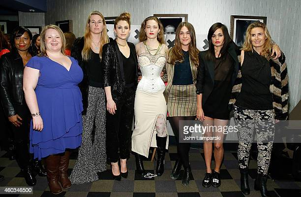 Victoria Bolton Jen Ponton Casey LaBow Sarah Beth Stroller Lola Kirke director Lina Esco Liza Azuelon and guest attend 'Free The Nipple' New York...