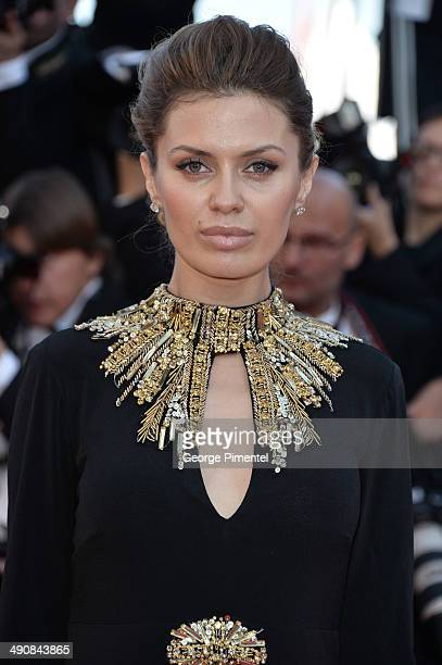 Victoria Bonia attends the 'MrTurner' Premiere at the 67th Annual Cannes Film Festival on May 15 2014 in Cannes France